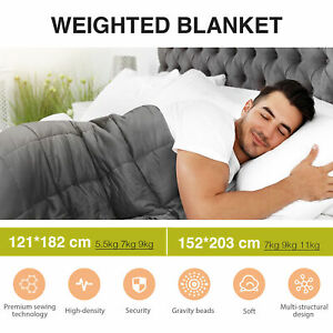 5.5/7/9/11 KG Weighted Blanket Deep Relax Calming Sleeping For All Ages