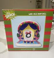 Dept 56 WHO-VILLE BAND SHELL Dr. Seuss  Grinch Village RARE RETIRED NIB