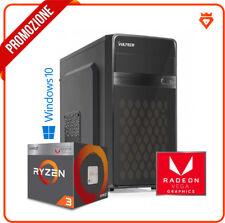 PC GAMING DESKTOP AMD RYZEN 2200G 8GB + SSD 240GB + Radeon VEGA + WINDOWS 10 PRO