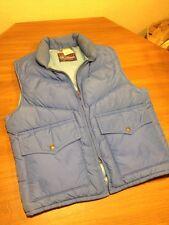 Vtg Down Designs Mens M  Ski Vest Puffer Warm Down Filled Blue