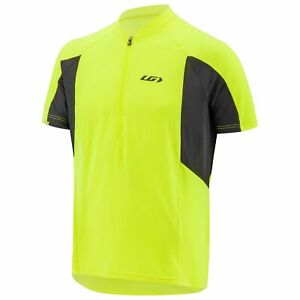 New Louis Garneau Connection Jersey Men Bright Yellow/Black Pockets in Back XL