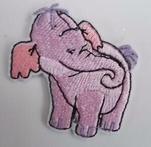 "Machine Embroidered Baby Elephant Heffalump Applique x 3 Size 1.84"" x 1.83"""