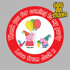 40 Personalised childrens Party Stickers Bag Seals Invites.