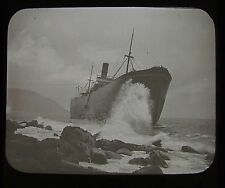Glass Magic Lantern Slide SS SOUTH AMERICA WRECK 1912 PHOTO CORNWALL GIBSON