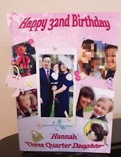 LARGE A3 GLOSSY PERSONALISED  BIRTHDAY  PHOTO  CARD - Collage Style Male/Female