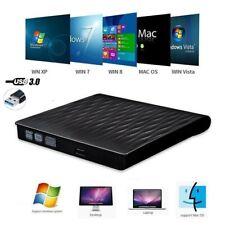 External Portable DVD Drive Slim USB 3.0 DVD/CD Re-Writer Burner Reader RW PC V1
