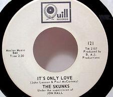"SKUNKS - It's Only Love (Quill) - '67 garage pop rock 7""/45 - LISTEN"