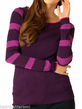 M&Co Viscose Thin Knit Striped Jumpers & Cardigans for Women