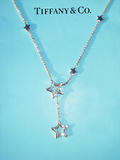 Tiffany & Co Sterling Silver Star Link Lariat Necklace 18.5 Inch