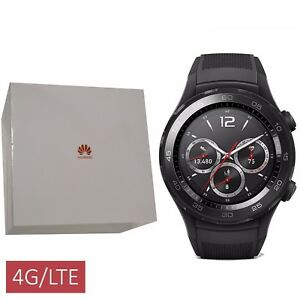 BNIB Huawei Watch 2 Sport Bluetooth + 4G/LTE Black 4GB Factory Unlocked IP68 GSM