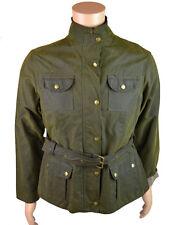 Plaza señoras chaqueta con cinturón de cera Elveden Oliva (esjk 002)