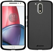AMZER Pudding Matte TPU Case Skin Cover For Motorola Moto G4 /G4 Plus - Black