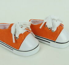"Lovvbugg Orange Sneakers for 18"" American Girl Doll Shoes Clothes"