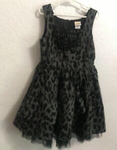 ⭐️HaraJuku Mini Ruffled  Layered Dress Sz 7/8 M  Animal Print Full Skirt ⭐️