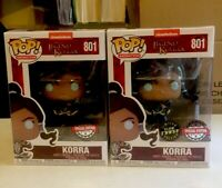 Funko Pop Korra GITD CHASE + Common # 801 AVATAR STATE Special Edition Mint 🔥