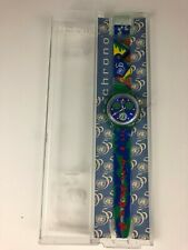 New Vintage 1995 SWATCH 50th Anniversary United Nations Chronograph Wrist Watch