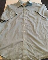 Men's Roundtree & Yorke Gold Label Short Sleeve Non Iron Shirt Size XLT