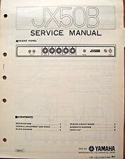 Yamaha JX50B Bass Guitar Amplifier Original Service Manual Schematics Parts List