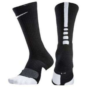 Nike Elite Basketball Socks Kids Shoe 3Y-5Y Black, 4-6, Crew SX5593-013 S1 P