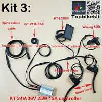 KT Controller Kit 24V/36V 250W + LCD3/LCD8H+108X throttle+ KT-V12L+ Brake ebike