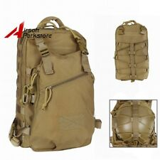 Military Tactical Molle Duty Backpack Day Pack Assault Bag w/ Helmet Holder Tan