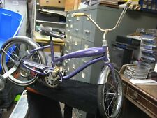 """Vintage AMF Purple Western Flyer Girl's Bicycle w Training Wheels 16"""" Solid Tire"""