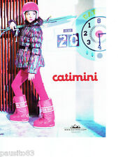 PUBLICITE ADVERTISING 086  2012  Catimini  vetements ski enfants  anorak fuseau