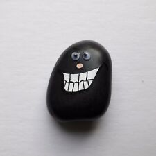 """Hand Painted Emoji Rock Art & Funny Line """"THAT WAS AWKWARD!"""" on The Flipside"""