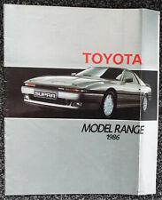 Toyota 1986 Range Brochure inc Land Cruiser, Supre and Corolla