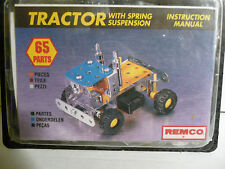 "Brand New Remco ""STEEL TEC"" (Meccano Like) Construction Set TRACTOR 65-Pieces"