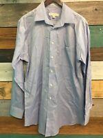 Joseph & Feiss Blue Dress Shirt Long Sleeve 16 34/35 Button Up