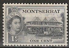 1953 Montserrat 1 C Definitive SG 137 L/M/Menta