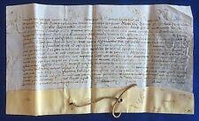Original pape flic, Le pape Alexandre VII, parchemin sans Sceau pour 1660, RARE