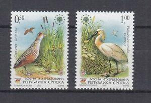 Bosnie Herzégovine Serb. République 355/56 Oiseaux - Oiseaux (MNH)