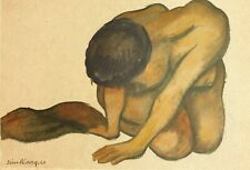 Diego Rivera, Nude 1940, Hand Signed Lithograph