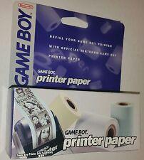 NEW Official Nintendo Game Boy Printer Paper  3 Rolls 540 Pics NEW IN BOX NIB