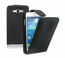BLACK Leather Flip Case Cover Pouch for Samsung Galaxy Grand Neo GT-i9060