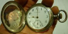 Vintage E.A. Arenberg Stevens Point, WIS. Coin Silver Pocket Watch, Works.