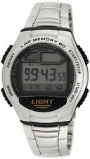 Casio Men's Digital Quartz 60-Lap Memory Resin / Stainless Steel Watch W734D-1AV