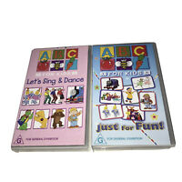 Abc For Kids Rare VHS Tapes Just For Fun! & Lets Sing & Dance