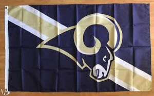 Los Angeles Rams Football NFL 3x5 Flag Banner Man Cave Gift FREE SHIPPING