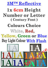1x 6cm Height 3M Reflective Vinyl Sticker For Street Numbers Letter boxes
