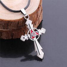 Naruto cosplay Uchiha Madara Sharingan Cross Necklace Unisex deerlace