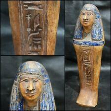 Ancient Egyptian Antique Ushabti Sculpture Rare Stone Shabti Statue Ultra Unique