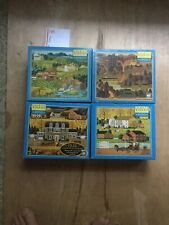 Lot Of 4 Charles Wysocki Jigsaw Puzzles 1000 Pieces Hasbro Great All Complete