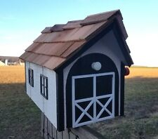 Amish Crafted 2 Tone Black/White Barn Style Mailbox - Lancaster County PA