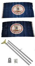 3x5 State of Virginia 2ply Flag Aluminum Pole Kit Set 3'x5'