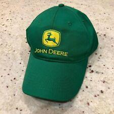 John Deere Baseball Hat Cap, Green and Yellow, Sewn Logo, Cotton, Snapback