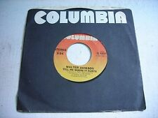 w SLEEVE Walter Jackson Tell Me Where It Hurts / When I See You 1981 45rpm