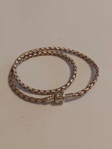 Pandora Sterling Silver 925 Rope Wrap Bracelet